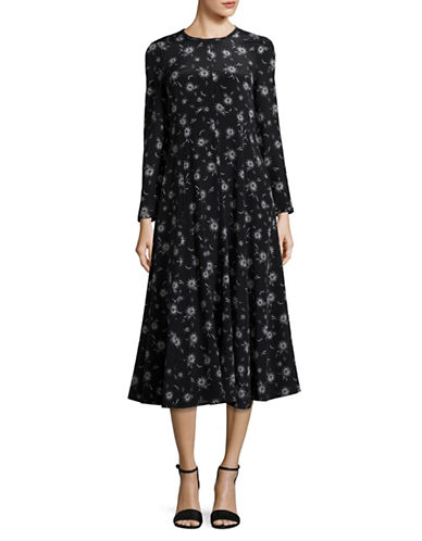 Max Mara Studio Katanga Dress-BLACK MULTI-EUR 48/US 14