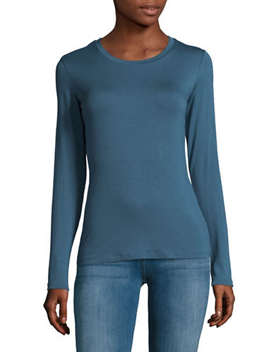 Weekend Max Mara Long Sleeve T-Shirt-BLUE-Medium