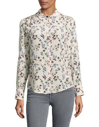 Weekend Max Mara Leandro Printed Silk Blouse-WHITE-EUR 42/US 8