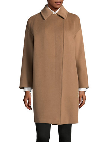 Max Mara Studio Lidia Short Coat-BROWN-EUR 42/US 8