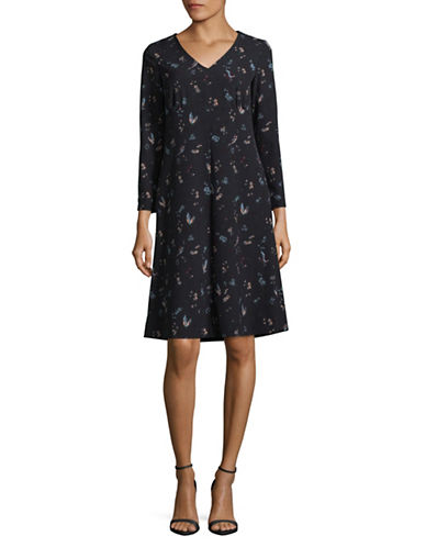 Weekend Max Mara Glauco Printed Dress-BLUE-EUR 46/US 12