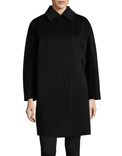 Max Mara Studio Lidia Short Coat-BLACK-EUR 48/US 14