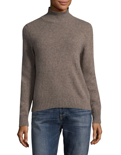 Weekend Max Mara Textured Turtleneck Sweater-LIGHT BROWN-Large