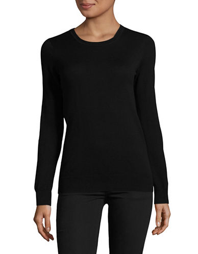 Weekend Max Mara Balsamo Silk-Wool Sweater-BLACK-X-Small