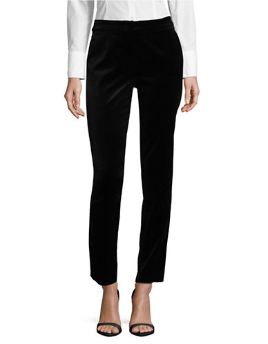 Max Mara Studio Benaco Velvet Pants-BLACK-EUR 40/US 6