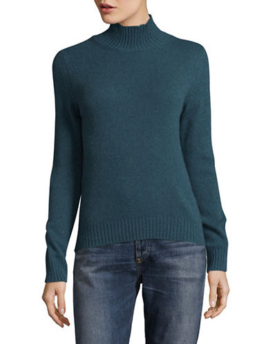 Weekend Max Mara Textured Turtleneck Sweater-BLUE-X-Small