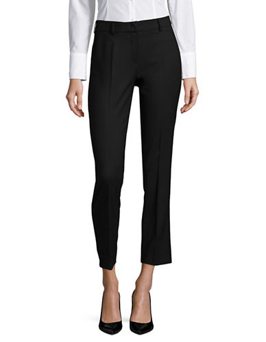 Weekend Max Mara Zac Wool-Blend Long Pants-BLACK-EUR 42/US 8