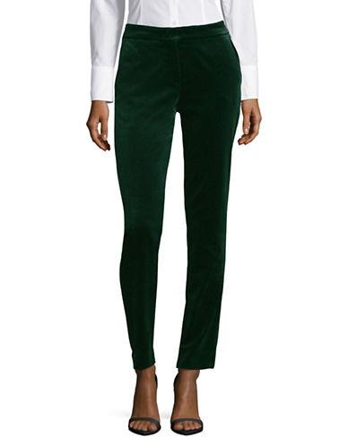 Max Mara Studio Benaco Velvet Pants-GREEN-EUR 46/US 12