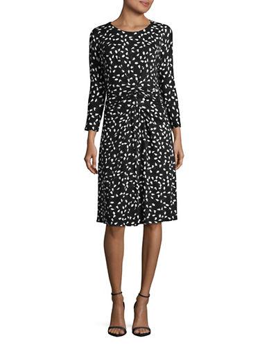 Max Mara Studio Print Drape Dress-MULTI-X-Large