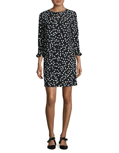 Max Mara Studio Fagus Dress-BLACK MULTI-EUR 38/US 4