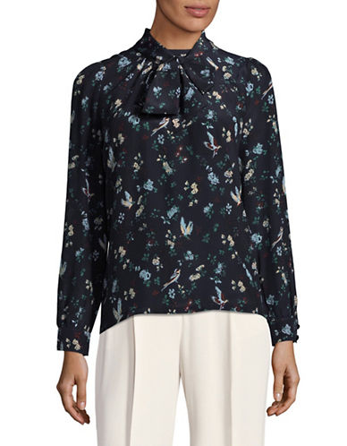Weekend Max Mara Floral Patch Shirt-BLUE-X-Large
