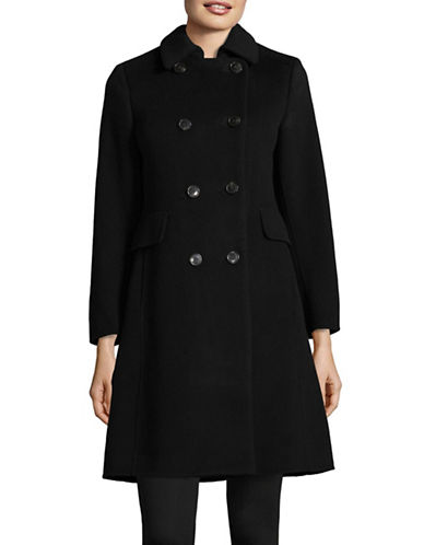 Weekend Max Mara Acino Double-Breasted Wool Coat-BLACK-EUR 44/US 10