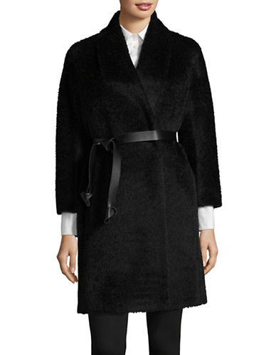 Max Mara Studio Pareo Short Coat-BLACK-EUR 38/US 4