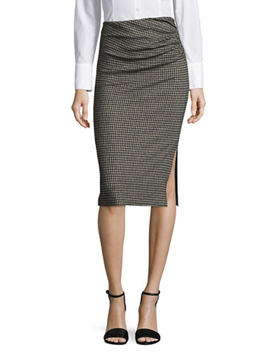 Weekend Max Mara Mogano Jersey Skirt-BLACK MULTI-Large