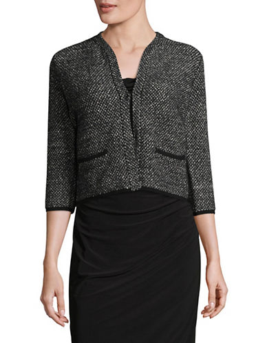 Max Mara Studio Wool-Blend Knitted Jacket-BLACK-Small