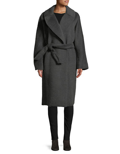 Weekend Max Mara Saletta Wool-Blend Wrap Coat-GREY-EUR 38/US 4