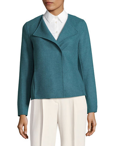 Weekend Max Mara Arte Virgin Wool Jacket-BLUE-EUR 36/US 2