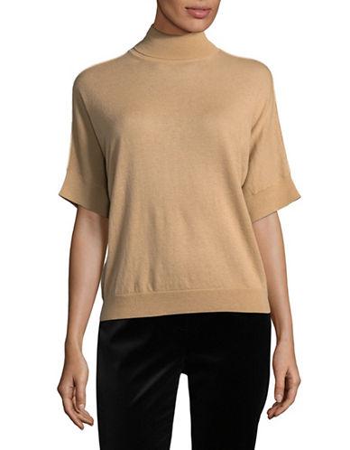 Max Mara Studio Editti Wool-Cashmere Sweater-BROWN-X-Large