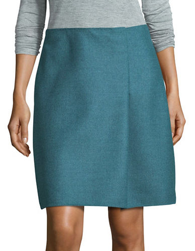 Weekend Max Mara Palanca Wool Skirt-BLUE-EUR 36/US 2