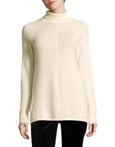 Max Mara Studio Chantal Wool-Cashmere Turtleneck-WHITE-Large