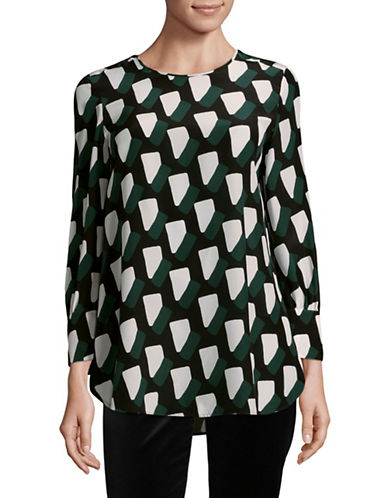 Max Mara Studio Zeus Silk Blouse-GREEN MULTI-EUR 40/US 6