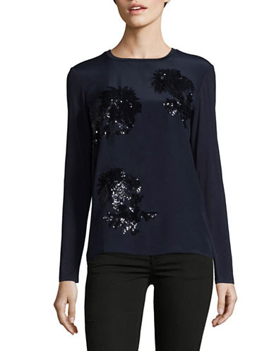Weekend Max Mara Sequin Top-BLUE-Medium