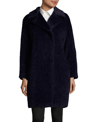 Max Mara Studio Sonia Coat-NAVY-EUR 42/US 8