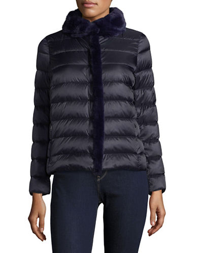 Weekend Max Mara Rigel Quilted Jacket-BLUE-EUR 48/US 14