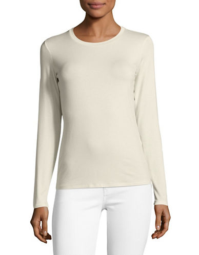 Weekend Max Mara Long-Sleeve Tee-WHITE-X-Small
