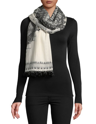 Weekend Max Mara Cuneo Printed Scarf-BLACK-One Size