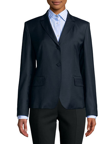 Weekend Max Mara Single-Breasted Wool-Blend Blazer-ULTRAMARIN-EUR 46/US 12