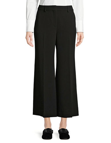 Weekend Max Mara Flare Cropped Trousers-BLACK-EUR 46/US 12