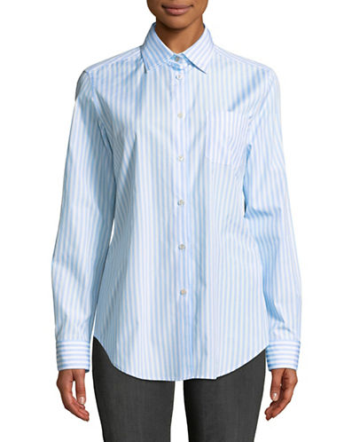 Weekend Max Mara Cotton Poplin Shirt-BLUE-EUR 48/US 14