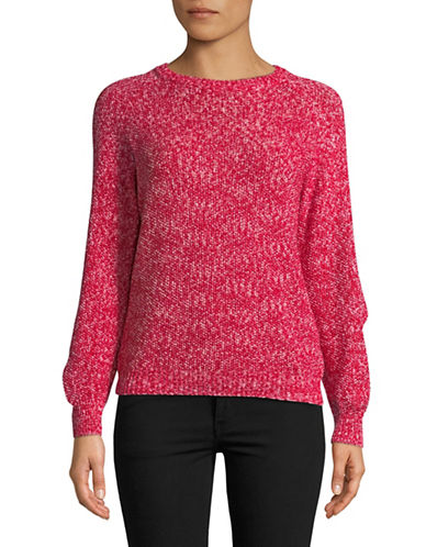 Weekend Max Mara Cotton Long-Sleeve Sweater-RED-X-Large