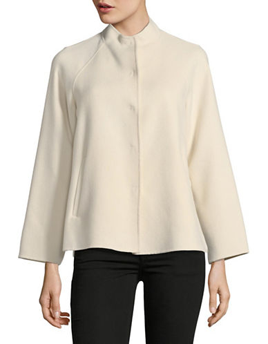 Weekend Max Mara Foligno Wool-Blend Coat-IVORY-EUR 48/US 14