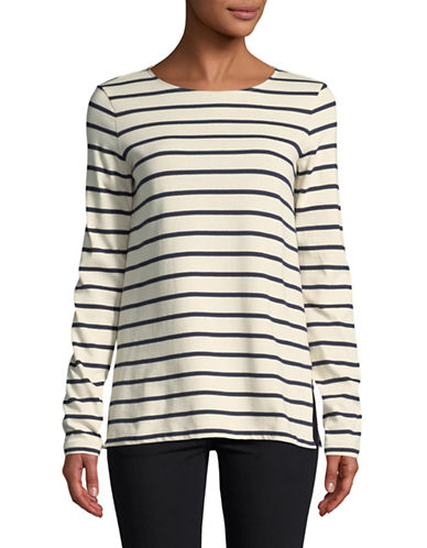 Weekend Max Mara Striped Long Sleeve Pullover-NAVY-XX-Large