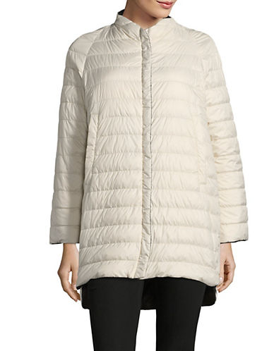 Weekend Max Mara Venezia Reversible Quilted Jacket-IVORY-EUR 36/US 2