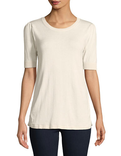Weekend Max Mara Gommoso Short-Sleeve Top-IVORY-Large