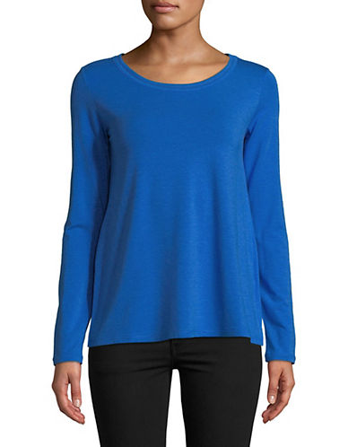 Weekend Max Mara Long Sleeve Knit Top-BLUE-X-Large 89960075_BLUE_X-Large