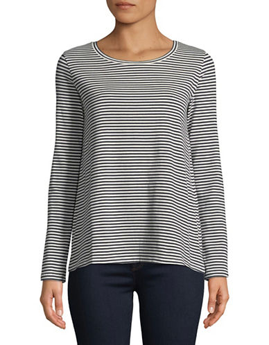 Weekend Max Mara Gradi Striped Top-NAVY/WHITE-Small