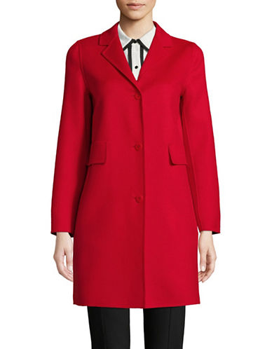 Max Mara Studio Rodano Wool-Blend Coat-RED-EUR 46/US 12
