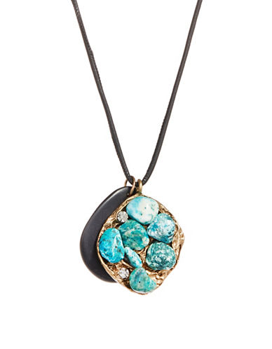 Weekend Max Mara Stone Pendant Necklace-TURQUOISE-One Size