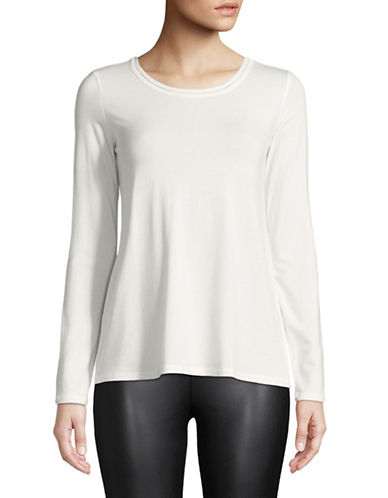 Weekend Max Mara Long Sleeve Knit Top-WHITE-X-Small