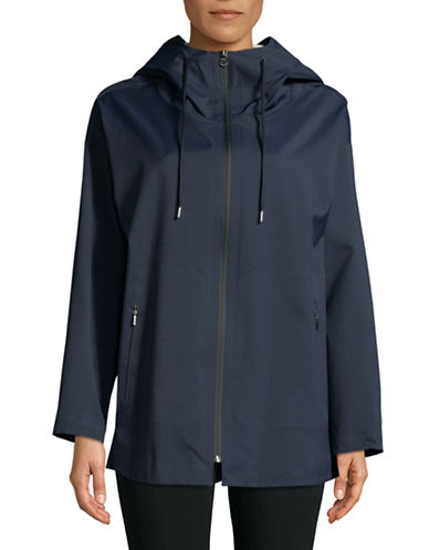 Weekend Max Mara Nylon Twill Hooded Raincoat-ULTRAMARIN-EUR 40/US 6