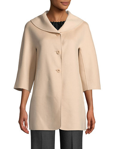 Max Mara Studio Palazzi Wool-Blend Coat-ROSE-EUR 38/US 4