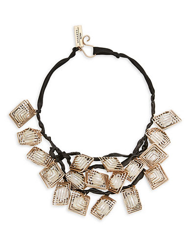 Weekend Max Mara Mirano Geometric Statement Necklace-BLACK-One Size
