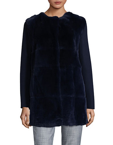 Weekend Max Mara Aire Fur Coat-ULTRAMARIN-EUR 38/US 4