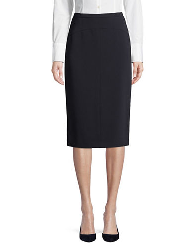 Max Mara Studio Caravan Pencil Skirt-NAVY-EUR 36/US 2