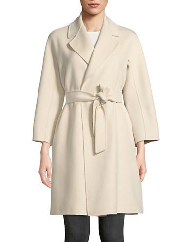 Max Mara Studio Shaila Wool-Blend Coat-PEARLY WHITE-EUR 50/US 16