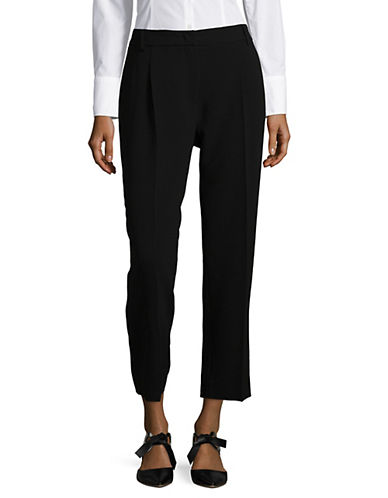Weekend Max Mara Dono Wide Leg Cropped Pants-BLACK-EUR 44/US 10